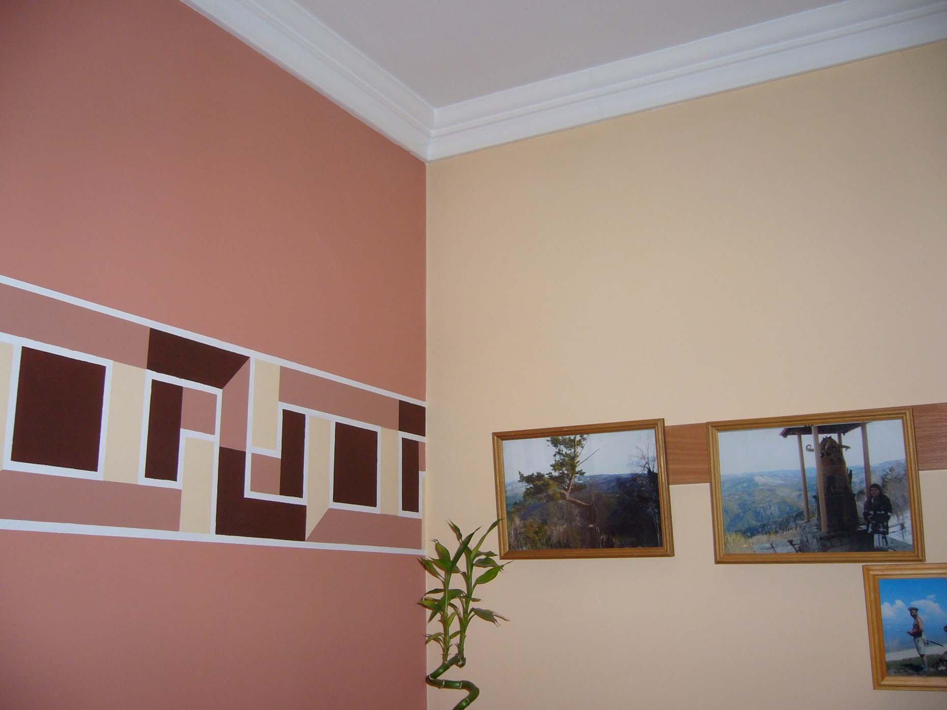 Фото покраска стен в квартире